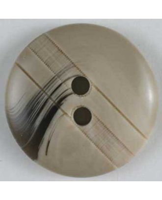 polyester button - Size: 25mm - Color: beige - Art.No. 320519