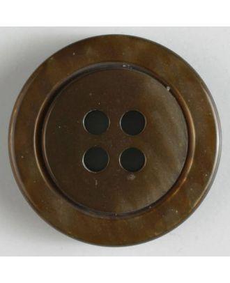 fashion button - Size: 25mm - Color: brown - Art.-Nr.: 320540