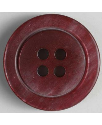 polyester button - Size: 38mm - Color: red - Art.No. 400031
