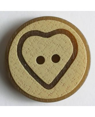 polyester button - Size: 25mm - Color: beige - Art.No. 320547
