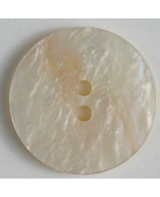 polyester button - Size: 23mm - Color: white - Art.No. 320586