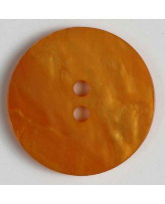 polyester button - Size: 23mm - Color: orange - Art.No. 320593