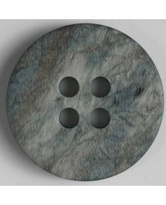 polyester button - Size: 20mm - Color: grey - Art.No. 330572