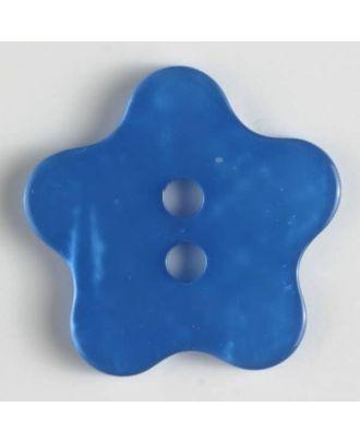 Fashion button - Size: 34mm - Color: blue - Art.No. 420042