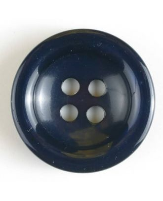 fashion button - Size: 20mm - Color: navy blue - Art.-Nr.: 330629