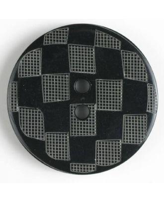 Fashion button - Size: 38mm - Color: black - Art.No. 450039