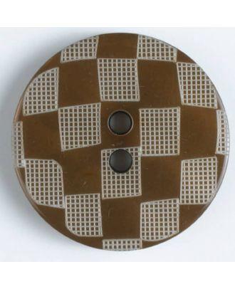 Fashion button - Size: 34mm - Color: brown - Art.No. 420047