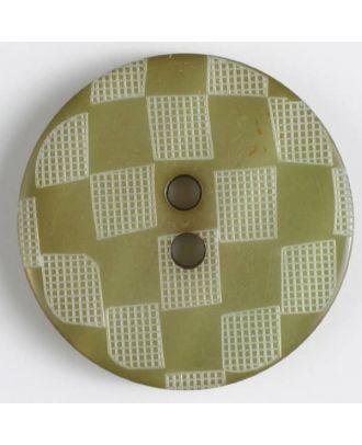 Fashion button - Size: 38mm - Color: green - Art.No. 450042