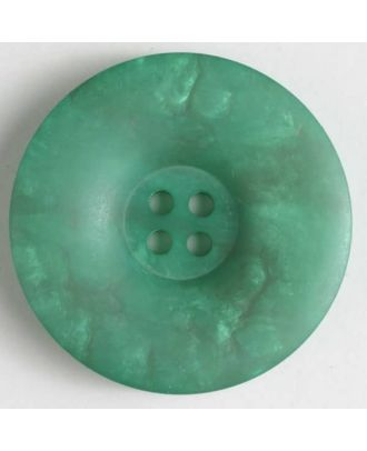 4-hole polyester button - Size: 34mm - Color: green - Art.No. 400069