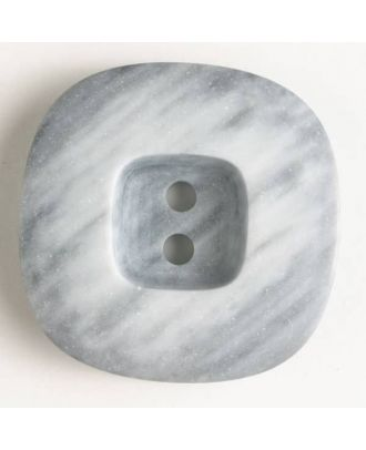 2-hole polyester button - Size: 34mm - Color: grey - Art.No. 400071