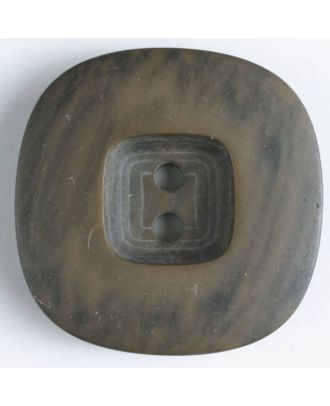 2-hole polyester button - Size: 34mm - Color: brown - Art.No. 400073