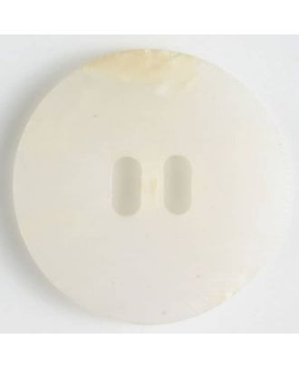 2-hole polyester button - Size: 20mm - Color: white - Art.No. 330665