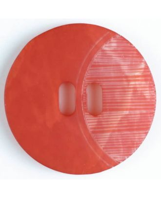 2-hole polyester button - Size: 20mm - Color: red - Art.No. 330671