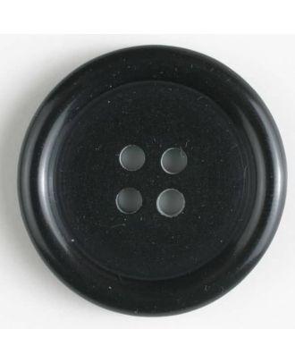 fashion button - Size: 15mm - Color: black - Art.-Nr.: 201434