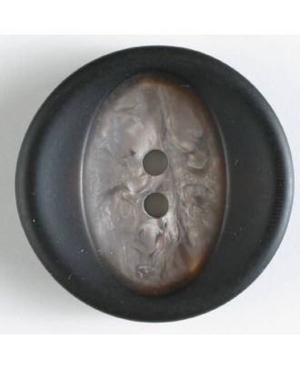 polyester button with structure - Size: 34mm - Color: brown - Art.No. 400119