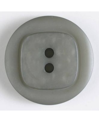 polyester button - Size: 38mm - Color: grey - Art.No. 430062