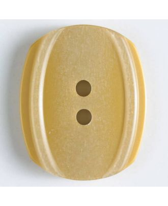 2-hole polyester button - Size: 34mm - Color: yellow - Art.No. 400128