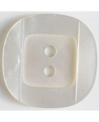 plastic button - Size: 34mm - Color: white - Art.No. 400150