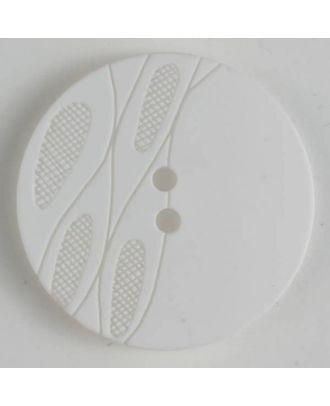 plastic button with 2 holes - Size: 28mm - Color: white - Art.No. 380243