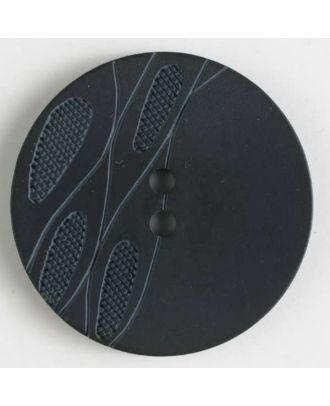 plastic button with 2 holes - Size: 20mm - Color: black - Art.No. 330735