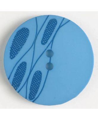 plastic button with 2 holes - Size: 28mm - Color: blue - Art.No. 380247
