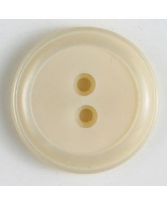 polyester button - Size: 30mm - Color: beige - Art.No. 380278