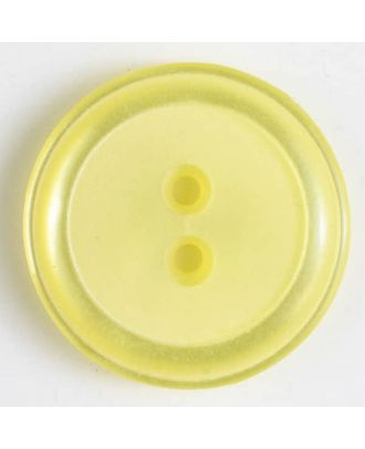 polyester button - Size: 23mm - Color: yellow - Art.No. 341025