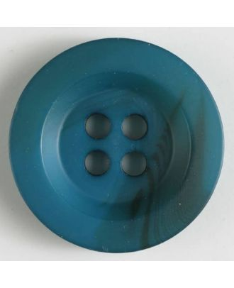 polyester button 4 holes - Size: 34mm - Color: blue - Art.No. 400209