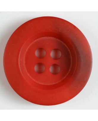 polyester button 4 holes - Size: 34mm - Color: red - Art.No. 400170