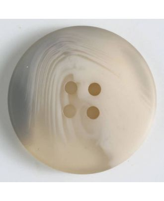 polyester button with 4 holes - Size: 34mm - Color: beige - Art.No. 400229