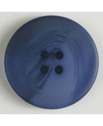 polyester button with 4 holes - Size: 19mm - Color: blue - Art.No. 330812