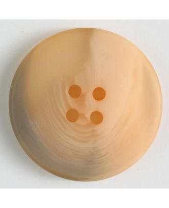 polyester button with 4 holes - Size: 19mm - Color: orange - Art.No. 330816
