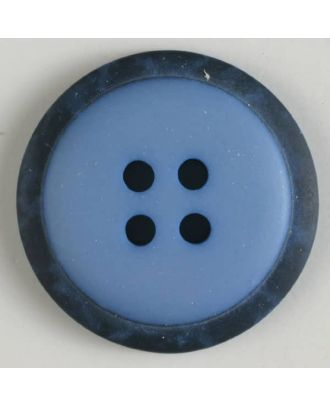 polyester button with 4 holes - Size: 18mm - Color: blue - Art.No. 310770