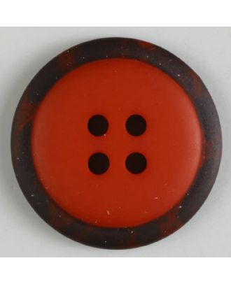 polyester button with 4 holes - Size: 30mm - Color: red - Art.No. 380291