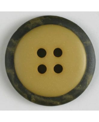 polyester button with 4 holes - Size: 30mm - Color: yellow - Art.No. 380292