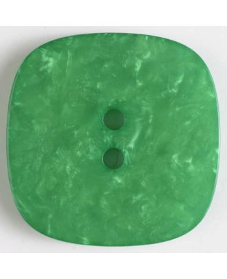 polyester button with holes - Size: 34mm - Color: green - Art.No. 400246