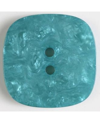 polyester button with holes - Size: 34mm - Color: green - Art.No. 400247