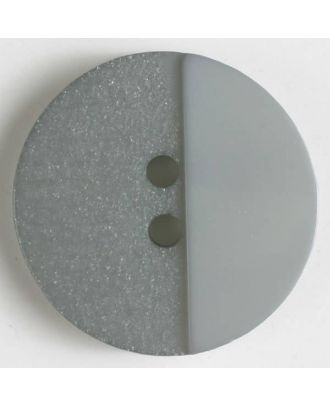 polyester button with holes - Size: 28mm - Color: grey - Art.No. 380294