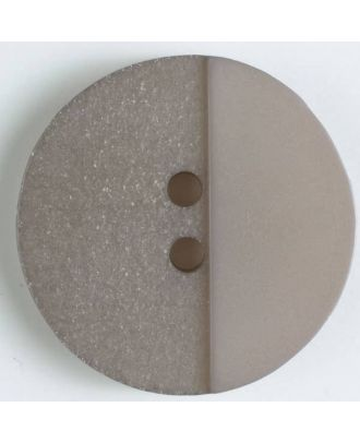 polyester button with holes - Size: 23mm - Color: brown - Art.No. 341083