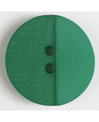 polyester button with holes - Size: 18mm - Color: green - Art.No. 310820