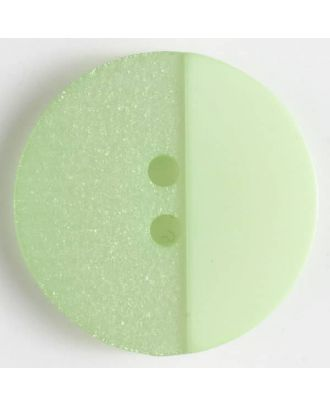 polyester button with holes - Size: 28mm - Color: green - Art.No. 380296