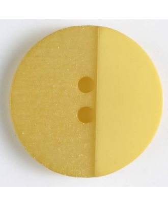 polyester button with holes - Size: 23mm - Color: yellow - Art.No. 341089