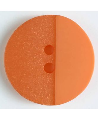 polyester button with holes - Size: 23mm - Color: orange - Art.No. 341090