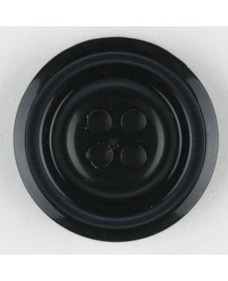 polyester buttons with 4 holes - Size: 20mm - Color: black - Art.No. 330891