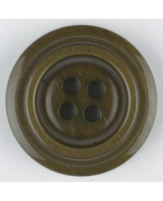 polyester buttons with 4 holes - Size: 20mm - Color: brown - Art.No. 330893