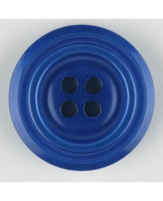 polyester buttons with 4 holes - Size: 28mm - Color: blue - Art.No. 380316