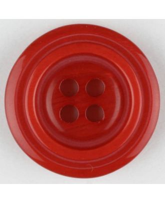 polyester buttons with 4 holes - Size: 20mm - Color: red - Art.No. 331001