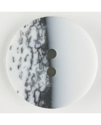 polyester button, round, 2 holes - Size: 23mm - Color: white - Art.-Nr.: 341134