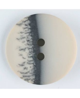 polyester button, round, 2 holes - Size: 28mm - Color: beige - Art.-Nr.: 384702