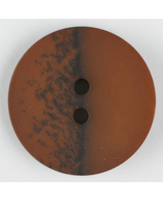 polyester button, round, 2 holes - Size: 23mm - Color: brown - Art.-Nr.: 344704